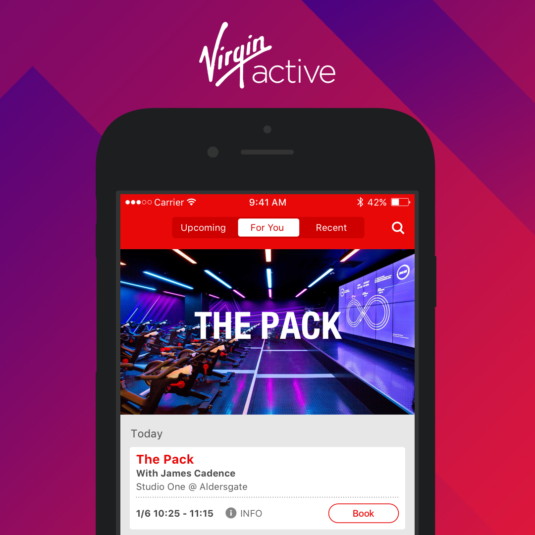 Virgin Active native mobile apps